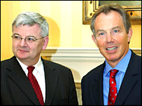 Joschka Fischer and Tony Blair