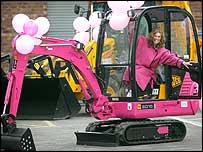 Pink digger