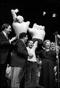 Kenny Everett at 1983 Tory rally