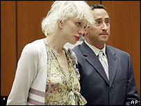 Courtney Love appears in court