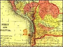 Mapa de Bolivia, 1856 (boliviaweb.com)