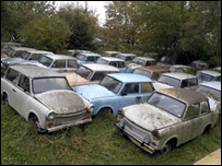 Mr Goodall's Trabant collection