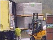 Loading onto a lorry at Elliott's