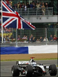 David Coulthard's McLaren at this year's British Grand Prix