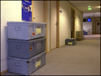 European Parliament corridor