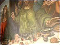 A portion of Michelangelo's Last Supper
