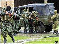 Ministry of Interior troops in action in Chechnya