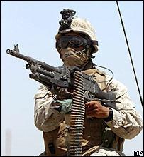 Infante de marina de EE.UU. en Irak