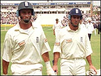 Nasser Hussain and Graham Thorpe