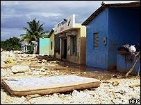 Scene of devastation in Jimani, Dominican Republic, after mudslides