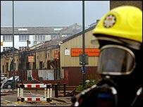 Firefighters on scene of fire in Leyton, east London