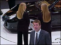 Andy Goss at the Birmingham Motor Show 2004