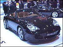 Porsche 911 Turbo S at the Birmingham Motor Show 2004
