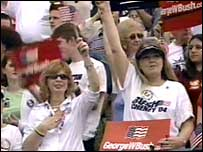 Women at a Bush rally