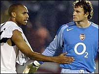 Thierry Henry and Jens Lehmann.