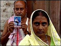 The parents of Manoj Kumar Thakur who was murdered in Iraq