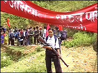 Nepalese say the Maoists beat and intimidate the people