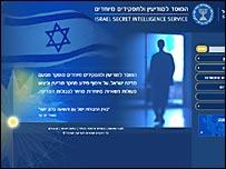 Первая страница сайта Моссада