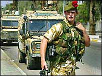 Black Watch soldier in Basra