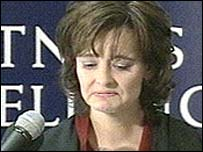 Cherie Blair making a statement