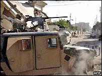 US army patrol in Samarra