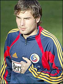 Romania and Chelsea striker Adrian Mutu
