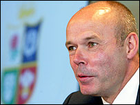 Lions coach Sir Clive Woodward