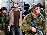 Israeli troops in Nablus