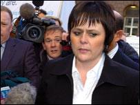 Luke's mother Ruth Winston-Jones outside court