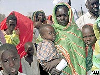 Refugees from the fighting in Darfur