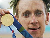 Bradley Wiggins won Olympic gold, silver and bronze in Athens