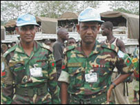 Bangladeshi peacekeepers in Sierra Leone