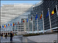 The renovated Berlaymont building, home to the European Commission, Brussels, Belgium
