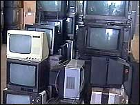 Discarded tv sets