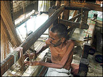 Mohammed Umar near his unused loom