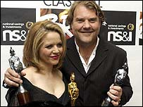 Classical Brits winners Renee Fleming and Bryn Terfel in 2004