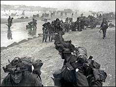 Troops landing at Sword Beach