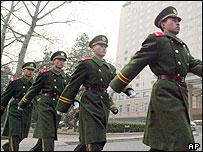 Militares chinos.