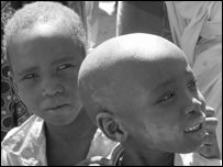 Darfur refugees in Farchana refugee camp in Chad