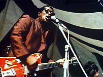Bo Diddley performing in the 1970s