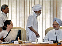 Sonia Gandhi and Manmohan Singh