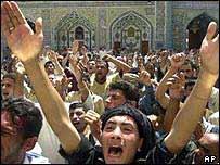Protesters in Najaf