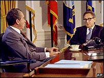 Richard Nixon y Henry Kissinger.