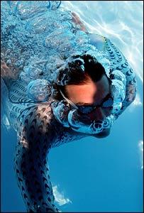 The Speedo Fastskin swimming suit, PA
