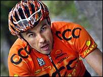 Pavel Tonkov on stage 17 of the Giro d'Italia