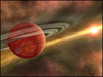 Artist's impression of a young planet, Nasa/JPL-Caltech/R. Hurt (SSC-Caltech)