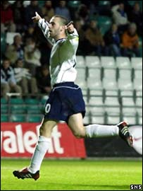 McFadden celebrates his wonderful winning goal