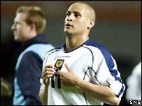 Nigel Quashie made an impressive debut for Scotland