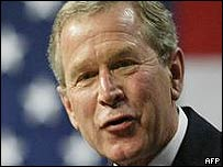 George Bush, presidente de Estados Unidos.