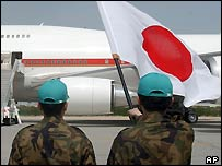 Japanese soldiers in Kuwait en route for Iraq